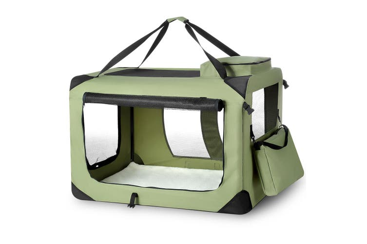 Pet Dog Cat Soft Crate Folding Puppy Travel Cage XXXL   Army Green