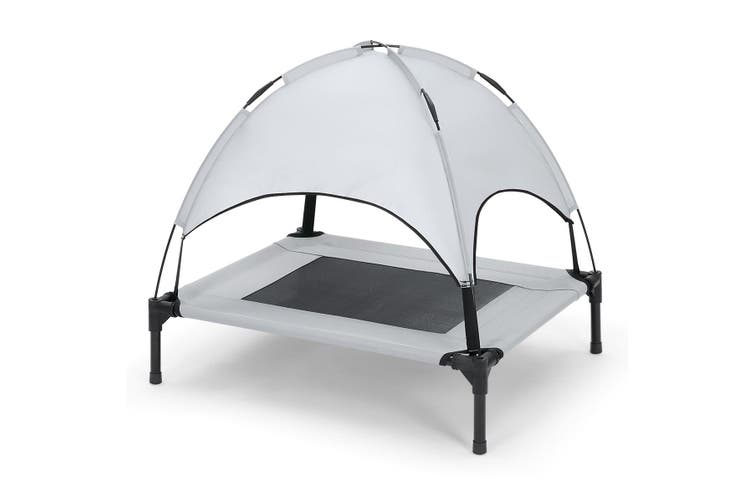 Elevated Pet Cat Cot Medium Size Dog Bed Trampoline with Canopy