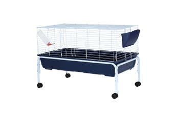 Rabbit Cage Hutch Animal Home Wheeled Guinea Pigs Pet Pen House