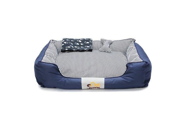 XL Pet Dog Cat Bed Mat Mattress with Blanket