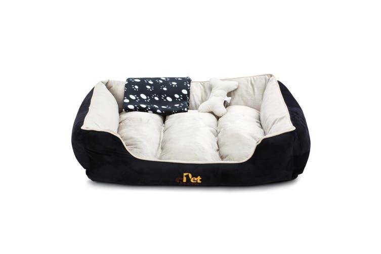 Deluxe XL Pet Dog Cat Bed Mat Mattress with Blanket