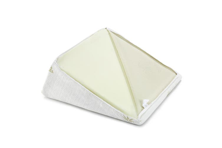 Triangle Bed Wedge Pillow with Memory Foam Topper