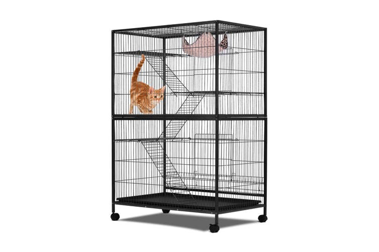 4 Level Pet Home Cat Bird Cage with Lock at Bottom