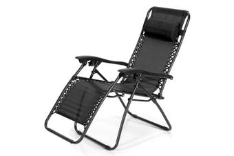 Zero Gravity Reclining Chair Beach Chair – Black