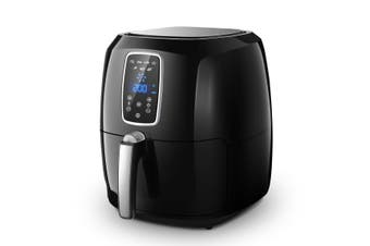 7L Maxkon OiL Free Air Fryer Cooker 1800W  Black