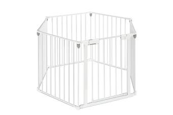 3 IN 1 Pet Kids Safe Playpen with 6 Panels   White