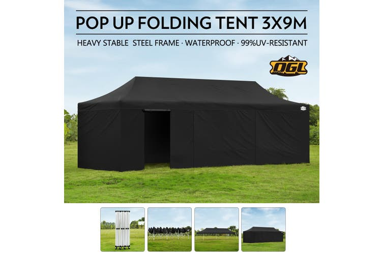 OGL 3x9M Pop Up Tent Outdoor Folding Canopy Party Marquee
