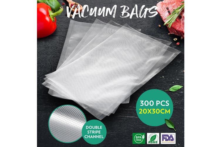 300PCS Vacuum Sealer Bags Pre set Food Saver 20x30cm