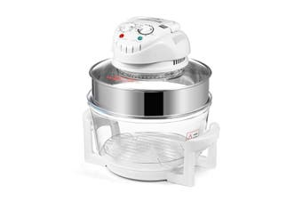 Maxkon 17L Halogen Oven Cooker Air Fryer   White