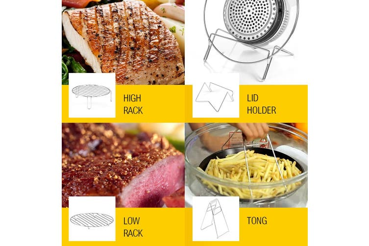 Maxkon 17L Halogen Oven Cooker Air Fryer with LED Display   Black