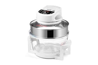Maxkon 17L Halogen Oven Cooker Air Fryer with LED Display   White
