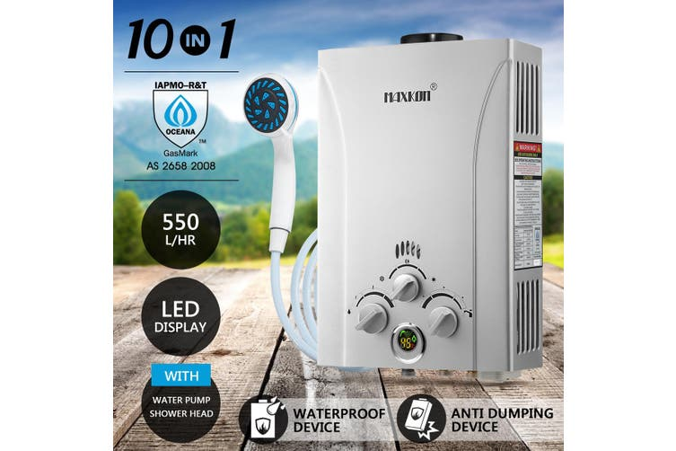 MAXKON 550L per Hr Portable Outdoor Gas Water Heater
