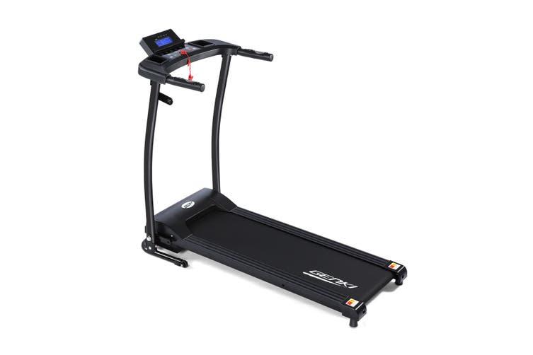 Genki Folding Treadmill Fitness Exercise Machine with Pulse Sensor