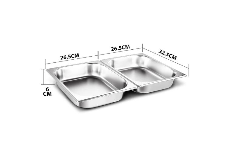 2 Sets Chafing Dishes Stainless Steel Buffet Set