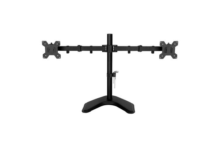 Free Standing Dual LED LCD Monitor Stand Bracket 13 27 inch  Flat Screen Swivel Holder