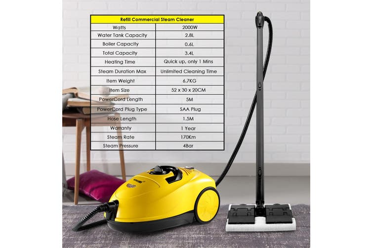 Maxkon 3.4L Powerful Multi Function Steam Cleaner  Commercial or Home Use