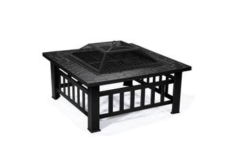 Outdoor 32 Inch Outdoor BBQ Grill Fire Pit Patio Garden Camping Heater
