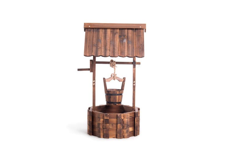 Outdoor Wooden Wishing Well Planter