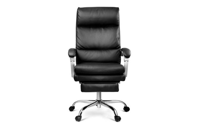 Deluxe Adjustable Ergonomic PU Leather Office Chair with Footrest