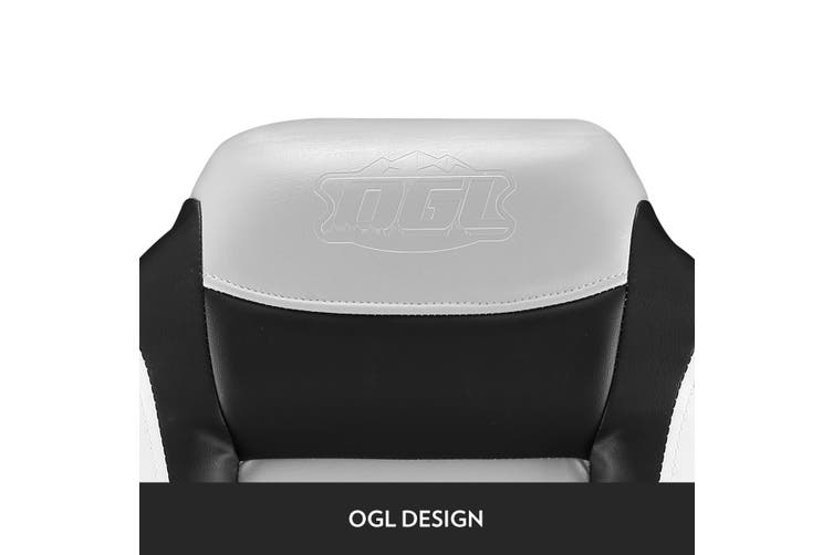 OGL 2 x Swivel base Folding High Back Boat Seat Chairs For All weather