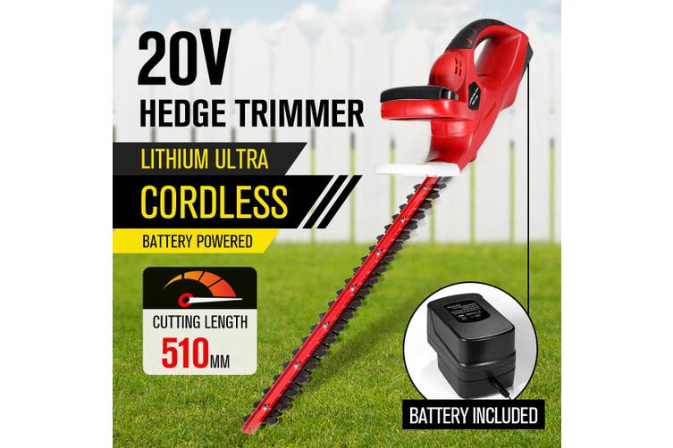 20V Battery Powered Handheld Hedge Trimmer