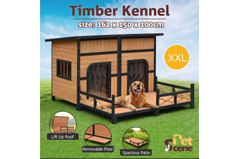 Dog House Large Golden Kennel Outdoor Pet Cage XXL