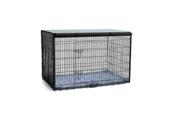 48 inch  Collapsible and Portable Metal Dogs Kennel Cage Crate