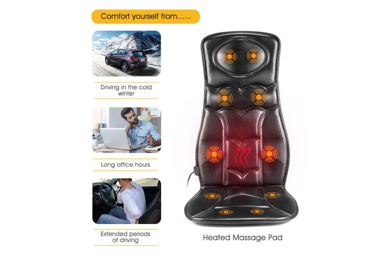 Vibration Massage Seat Cushion Heating Therapy Chair Pad with 10 Vibrating Motors