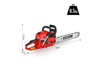 Shogun Petrol Commercial Chainsaw 20 inch  Chain Saw Bar Pruning 62cc