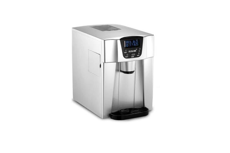 Maxkon Portable Ice Maker Machine Water Dispenser Home & Commercial Use Silver