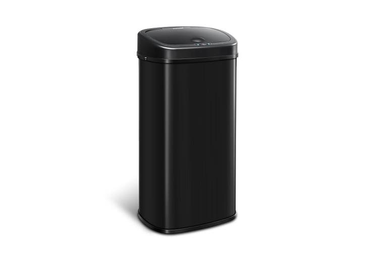 68L Intelligent Motion Sensor Touchless & Stainless Trash Bin Waste Can   Black