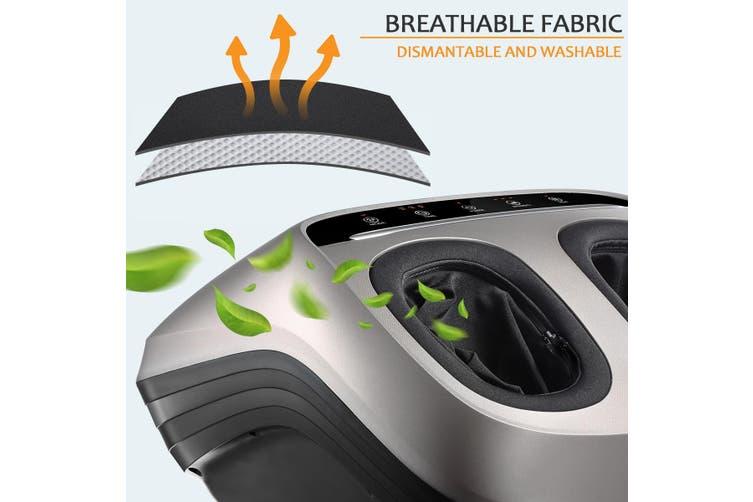 Shiatsu Foot Massager Kneading Rolling Massage Heat Air Pressure Heel Ankle Therapy