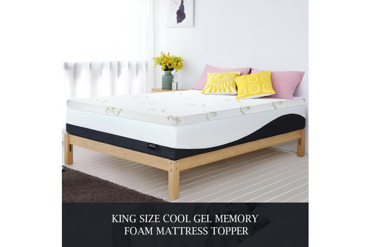 Luxdream King Size Thick Cool Gel Memory Foam Mattress with Bamboo Cover