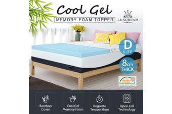 Luxdream Double Size Thick Cool Gel Memory Foam Mattress with Bamboo Cover