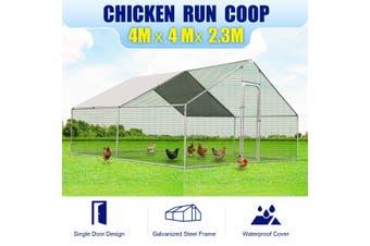 Steel Chicken Coop Run Rabbit Duck Enclosure 4x4m