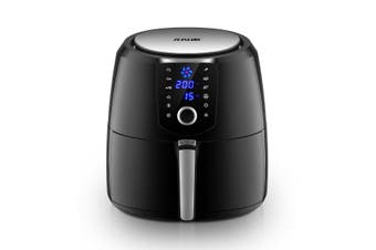 Maxkon 7L Air Fryer Health Cooker Low Oil Air circulation 12 Blades LCD Black With Warm Function