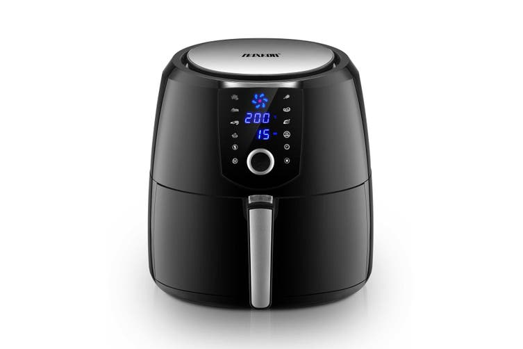 Maxkon 7L Air Fryer Health Cooker Low Oil Air circulation 12 Blades LCD Black With Warm Function