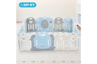 ABST Baby Playpen Interactive Kids Activity Center Safety Play Room   16 Panels