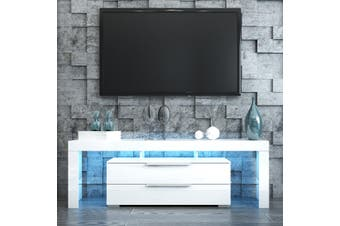 Modern LED TV Stand Cabinet Entertainment Center Unit 160cm with 2 Drawers   White