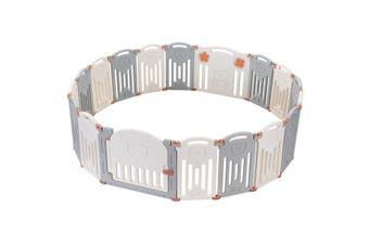 ABST 18 Panel Baby Safety Playpen Interactive Kids Play Center Room   Bear Style