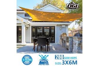 OGL 280GSM Sun Shade 98% UV Blocking   3x6m Beige