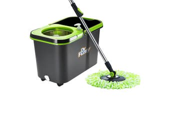 Dr. Fussy Mop 360 Degree Spin Drying Basket Including 4 Strong Mop Refills