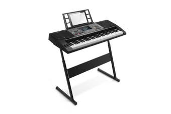 61 Lighted Keys Electronic Piano Keyboard with LCD Display Black