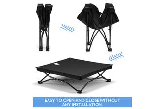 Elevated Pet Folding Bed Black S size