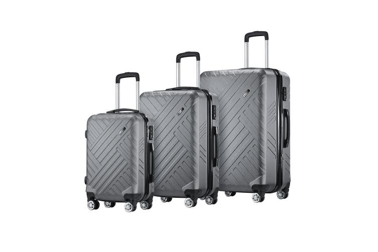 "Buonviaggio 3PC Luggage Suitcase Trolley Set TSA Storage Organizer 20"" 24"" 28"""