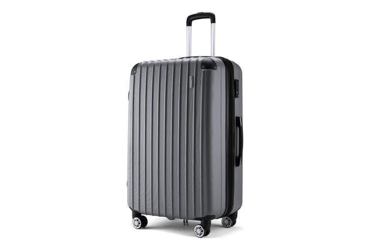 "Buonviaggio 28"" Luggage Suitcase Trolley TSA Hard Case Storage Organizer Gray"