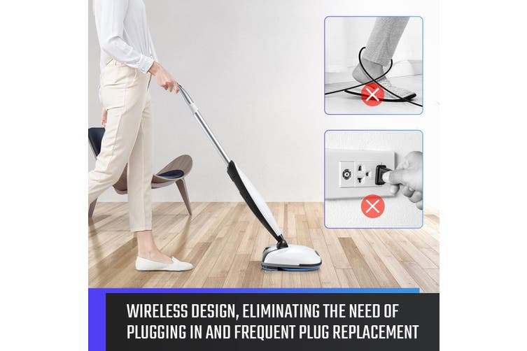 4 In 1 Electric Wireless Mop Spin Floor Cleaner Sweeper Polisher Scrubber