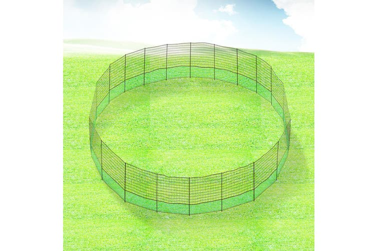 40M X 1.25M Poultry Net Chicken Netting Fence Hens Ducks Gooses With 20 Posts