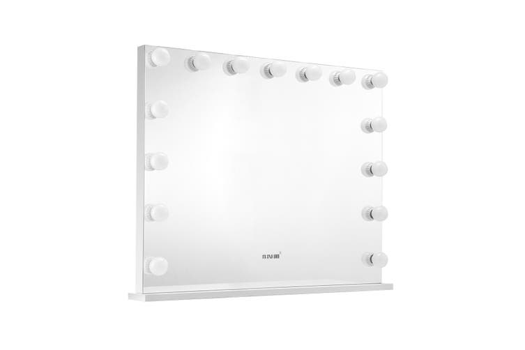 Maxkon Hollywood Frameless Makeup Mirror 15 LED Lights Vanity Mirror with Dimmer Control