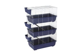 3 Levels Rabbit Cage Hutch Metal Cat Ferret Guinea Pigs House Small Animal Pet Crate